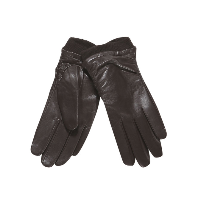 Kožené dámske rukavice bata, hnedá, 904-4107 - 13