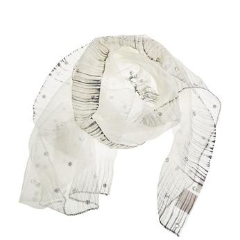 Šál s kamienkami bata, biela, 909-1551 - 13