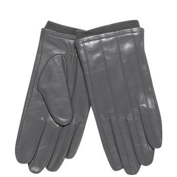 Pánské kožené rukavice s úpletom bata, šedá, 904-2117 - 13