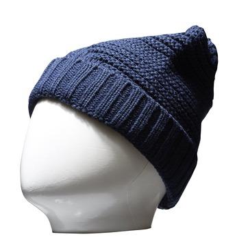 Pletená čiapka bata, modrá, 909-9391 - 13
