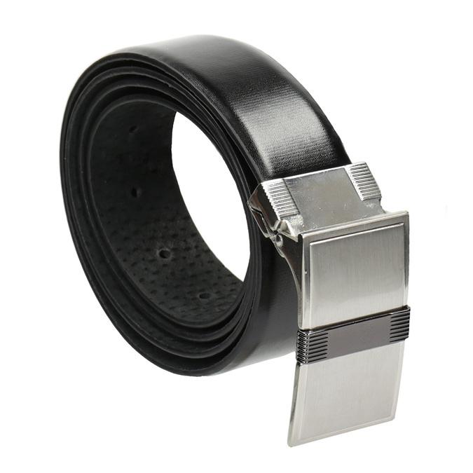 Pánsky kožený opasok bata, čierna, 954-6140 - 13