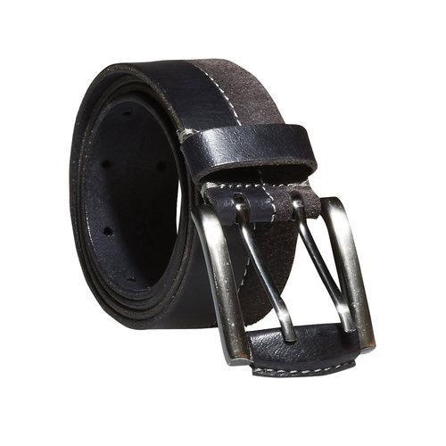 Pánsky kožený opasok bata, čierna, 954-6162 - 13