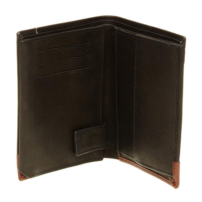 Pánská kožená peňaženka bata, čierna, 944-6150 - 16
