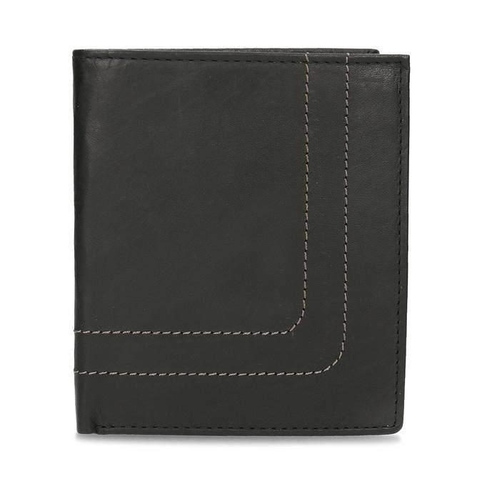 Kožená peňaženka s prešitím bata, čierna, 944-6148 - 26
