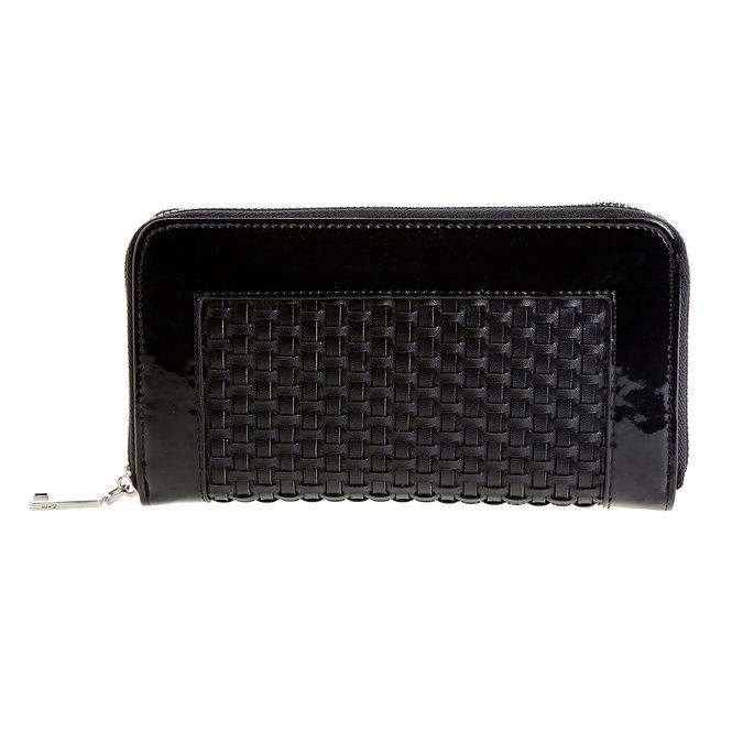Dámska peňaženka v pletenom dizajne bata, čierna, 941-6132 - 26