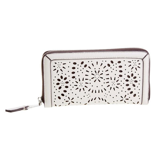 Dámska peňaženka s perforáciou bata, biela, 941-1131 - 26