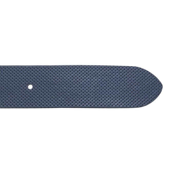 Kožený opasok s perforáciou bata, modrá, 954-9154 - 16