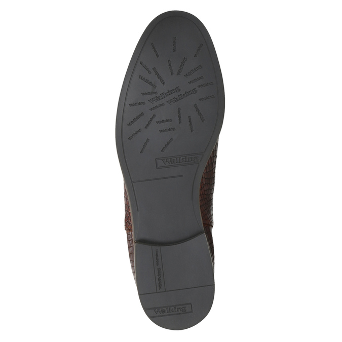 Kožené Chelsea boots bata, hnedá, 596-4606 - 26
