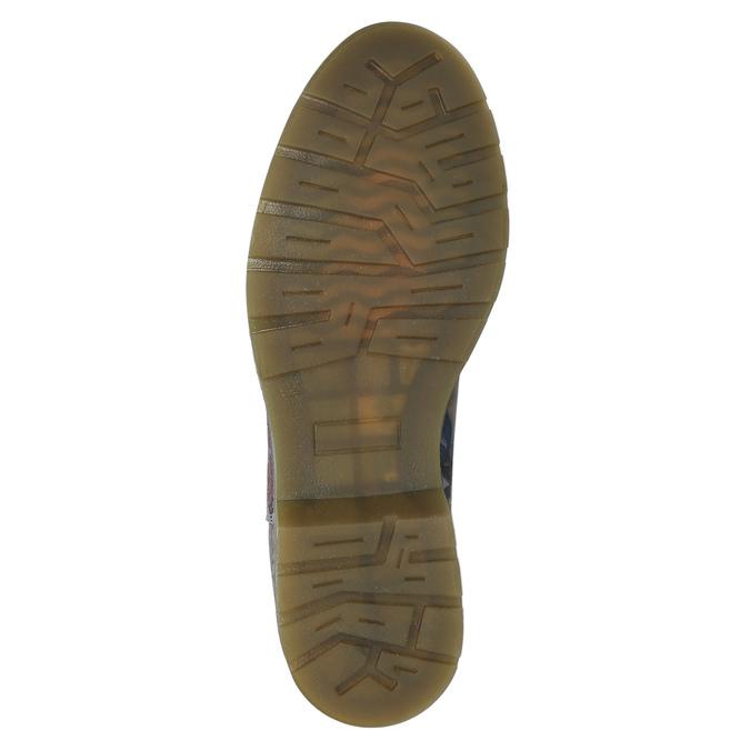 Kožené Chelsea Boots s kvetinovým vzorom bata, modrá, 596-9620 - 26