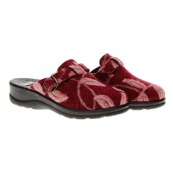 Domáca obuv bata, červená, 579-5221 - 26