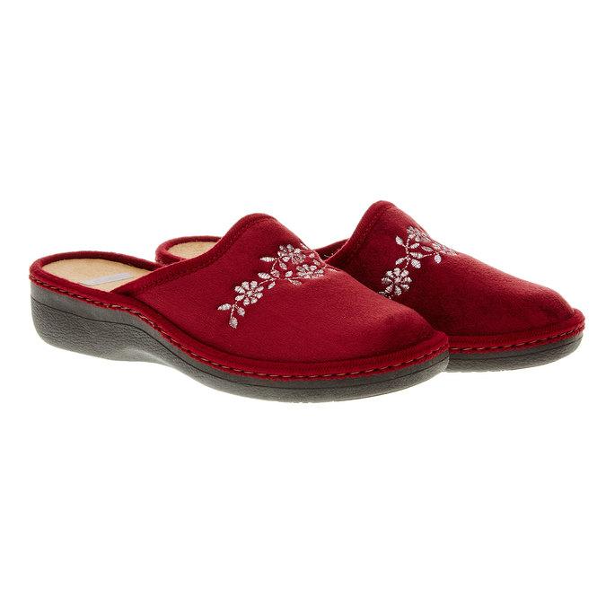 Dámska domáca obuv bata, červená, 579-5233 - 26