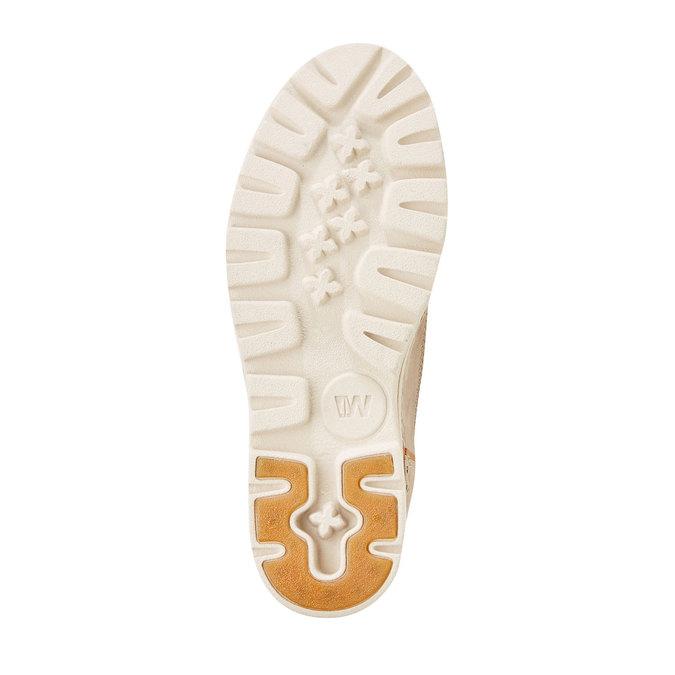 Kožené členkové topánky weinbrenner, béžová, 594-2531 - 26