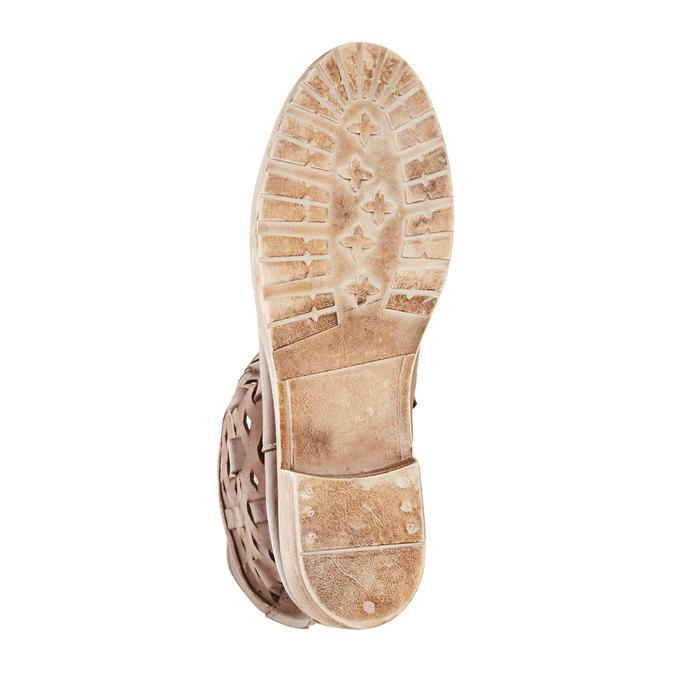 Kožené členkové čižmy bata, hnedá, 596-4612 - 26