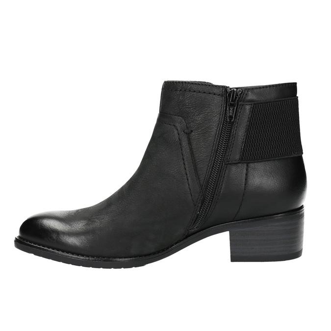 Dámska členková obuv bata, čierna, 696-6605 - 26