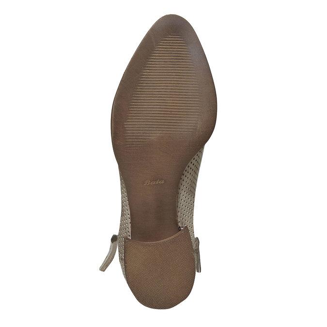 Kožené členkové čižmy bata, béžová, 594-2400 - 26
