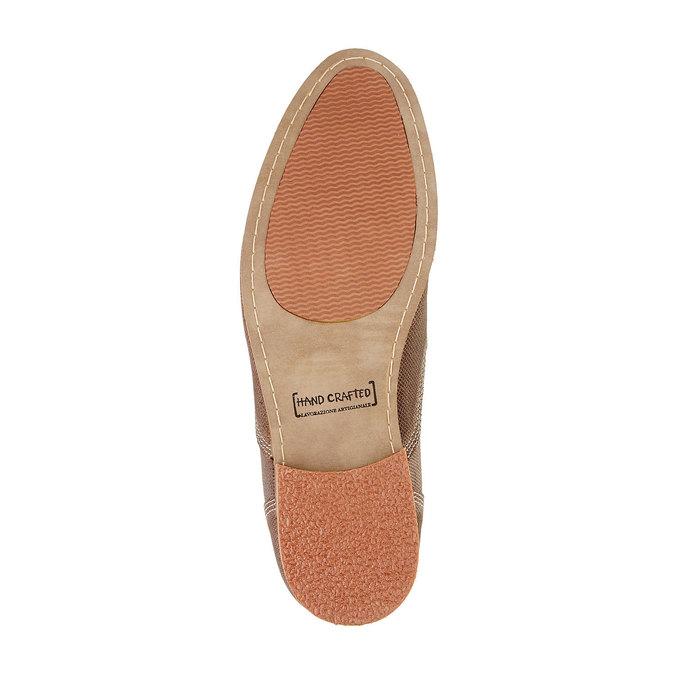Kožené členkové poltopánky bata, hnedá, 826-3101 - 26