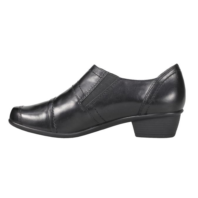 Dámska kožená obuv bata, čierna, 624-6113 - 15