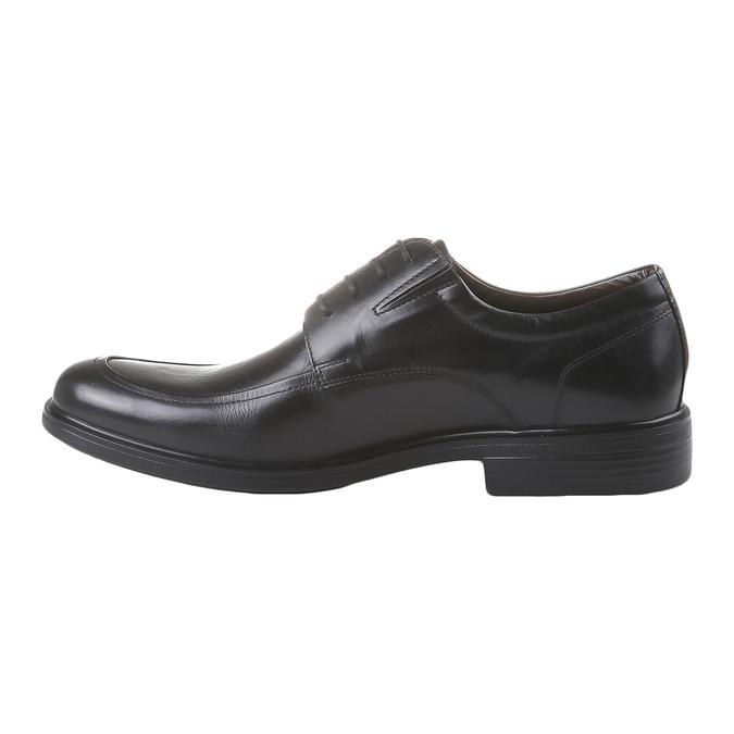 Kožené Pánske poltopánky bata-comfit, čierna, 824-6933 - 15