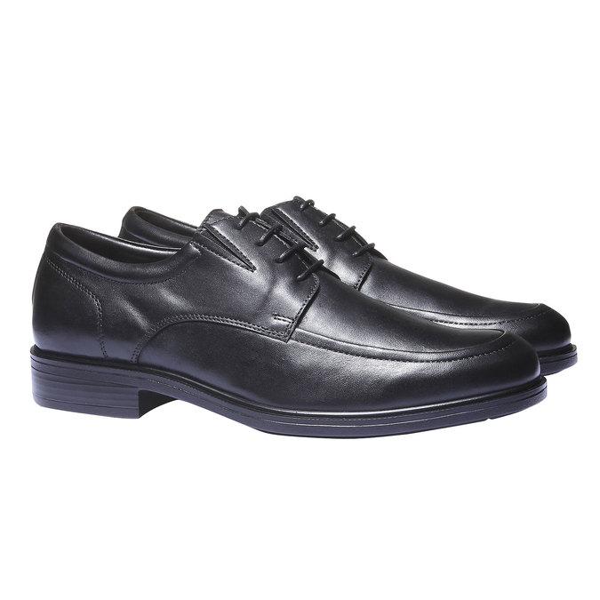 Kožené Pánske poltopánky bata-comfit, čierna, 824-6933 - 26