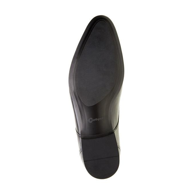 Kožené pánske poltopánky conhpol, čierna, 824-6131 - 26