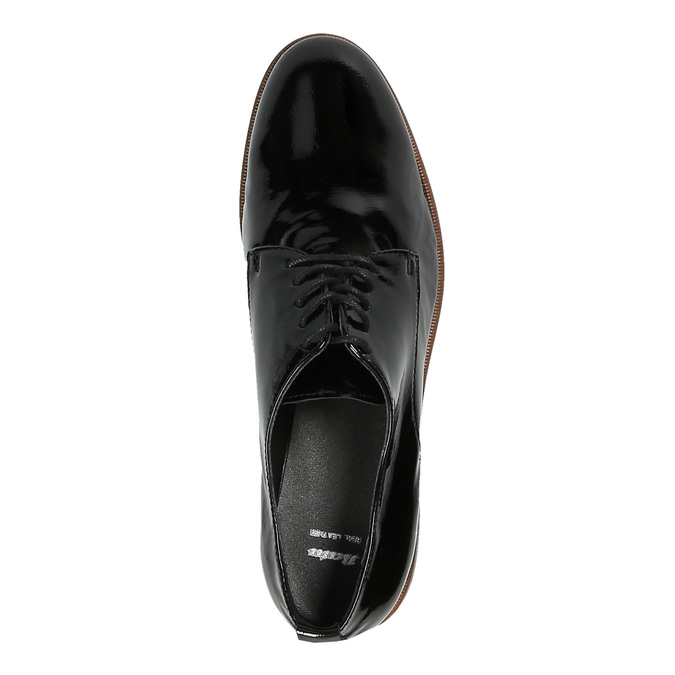 Dámske Derby poltopánky bata, čierna, 528-6600 - 19