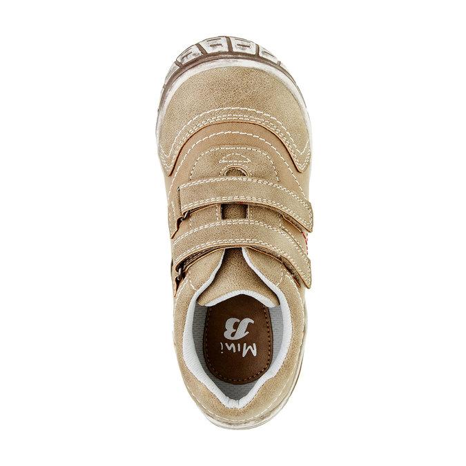 Detské ležérne tenisky na suchý zips mini-b, hnedá, 311-3212 - 19