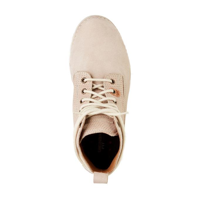 Kožené členkové topánky weinbrenner, béžová, 594-2531 - 19