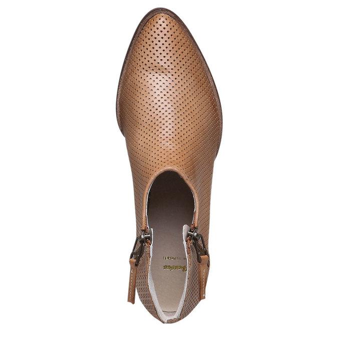 Kožené členkové čižmy bata, hnedá, 594-3400 - 19