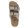 Dámske kožené papuče de-fonseca, béžová, 573-8620 - 19