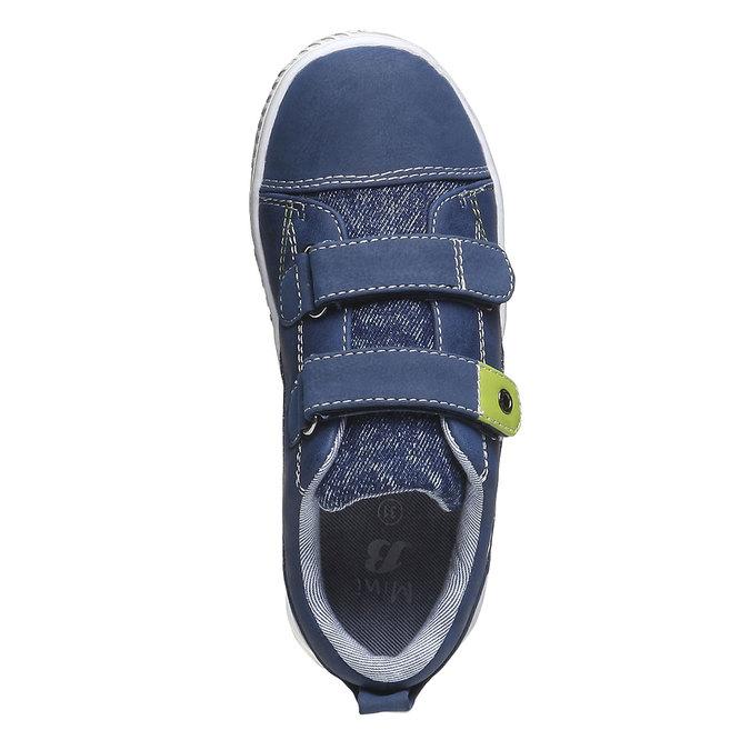 Detské tenisky na suchý zips mini-b, modrá, 211-9157 - 19