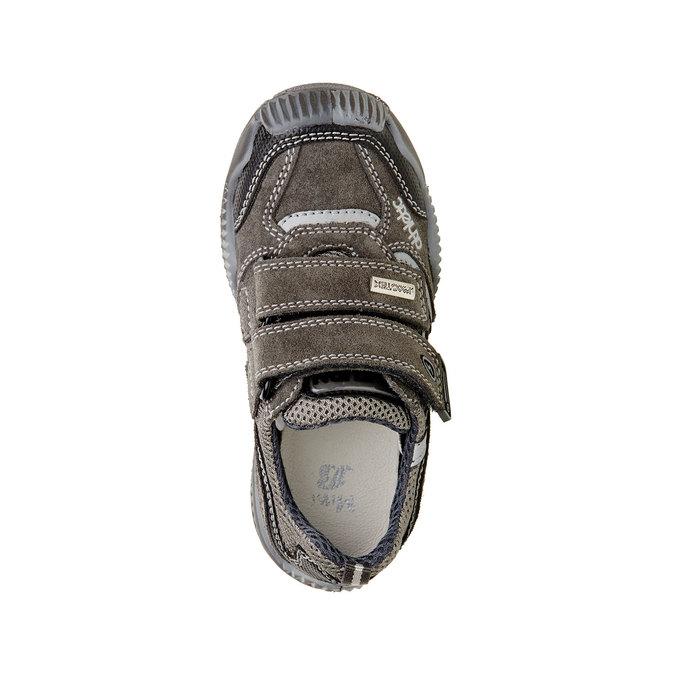 Detské kožené tenisky na suchý zips mini-b, šedá, 213-2130 - 19