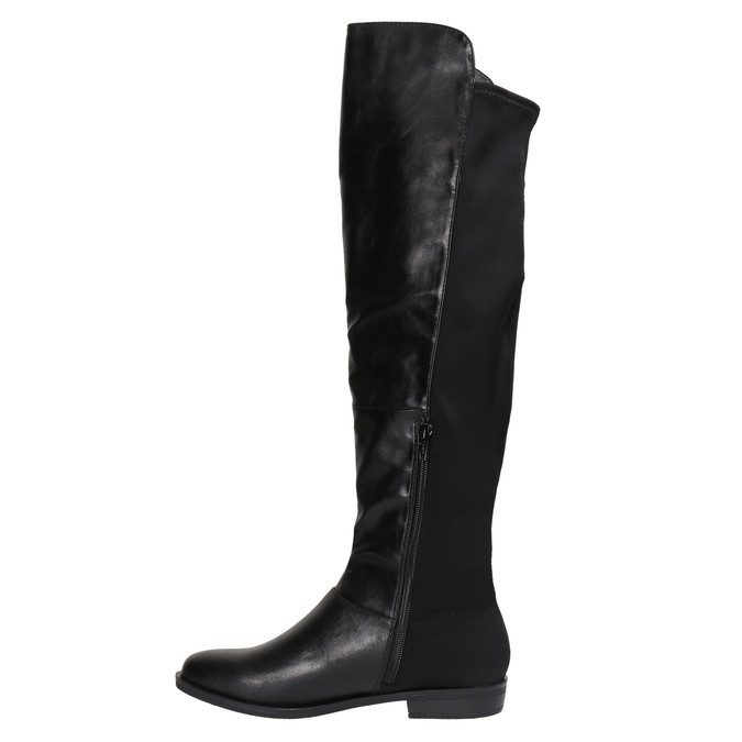 Dámské čižmy nad kolená bata, čierna, 591-6604 - 19