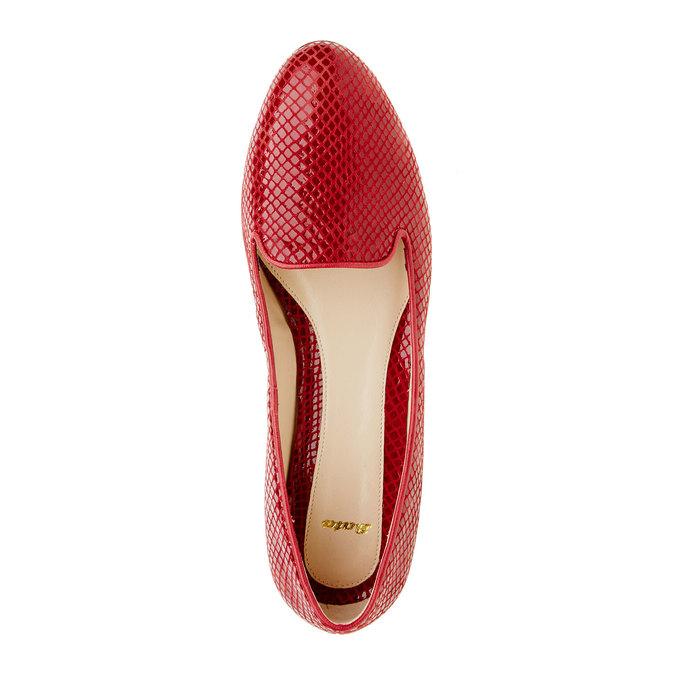Červené kožené mokasíny bata, červená, 524-5412 - 19