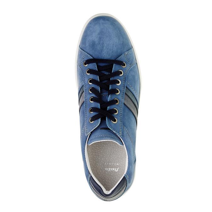 Ležérne tenisky z brúsenej kože bata, modrá, 846-9638 - 19