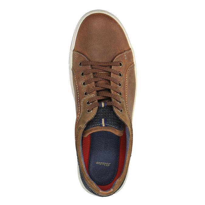 Pánske kožené tenisky bata, hnedá, 826-3651 - 19