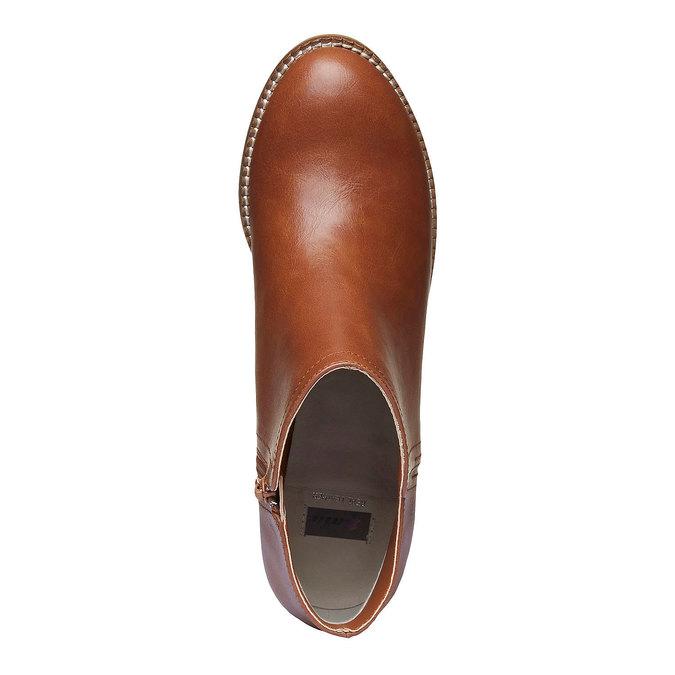 Členkové čižmy na širokom podpätku bata, hnedá, 691-3271 - 19