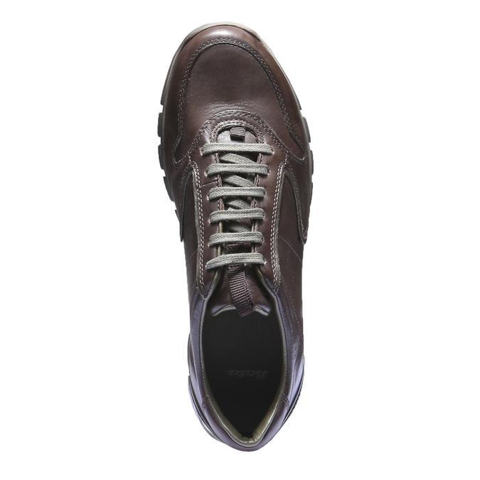 Kožené tenisky bata, hnedá, 844-4270 - 19