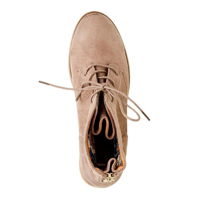 Členkové topánky so zipsom bata, béžová, 599-2493 - 19