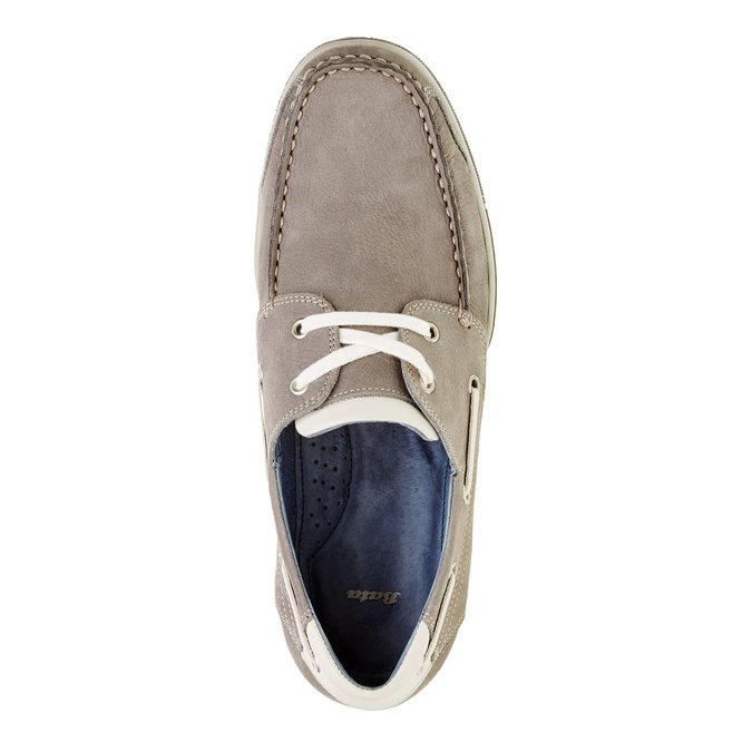 Ležérne kožené mokasíny bata, šedá, 856-2176 - 19