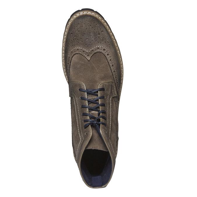 Semišová členková obuv bata, hnedá, 893-2372 - 19