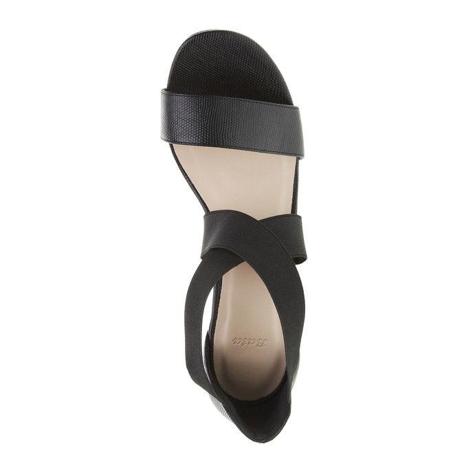 Dámske remienkové sandále na vysokom podpätku bata, čierna, 769-6300 - 19