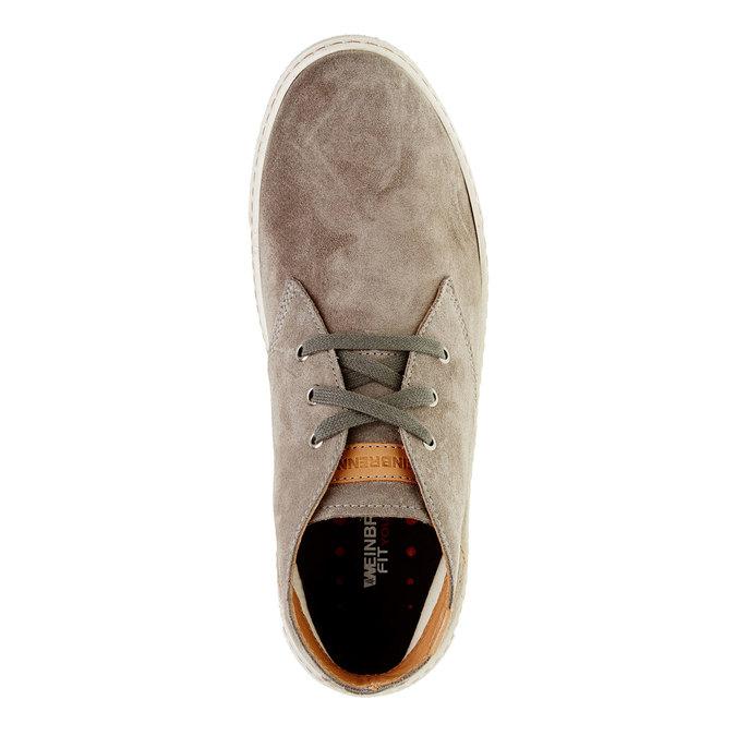 Pánska kožená obuv weinbrenner, hnedá, 843-2661 - 19