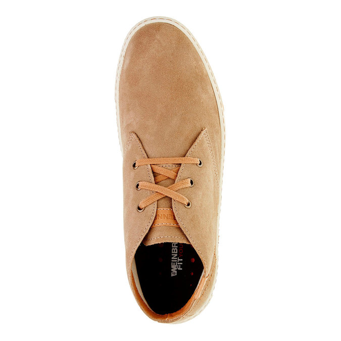 Pánska kožená obuv weinbrenner, hnedá, 843-8661 - 19