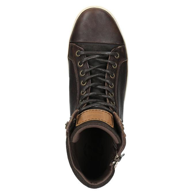 Pánske členkové tenisky bata, hnedá, 844-4625 - 19