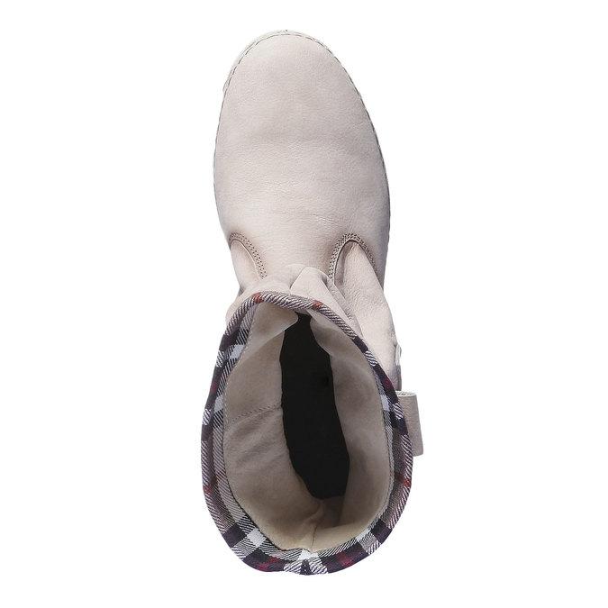 Kožená obuv s farebným lemom weinbrenner, 596-8311 - 19