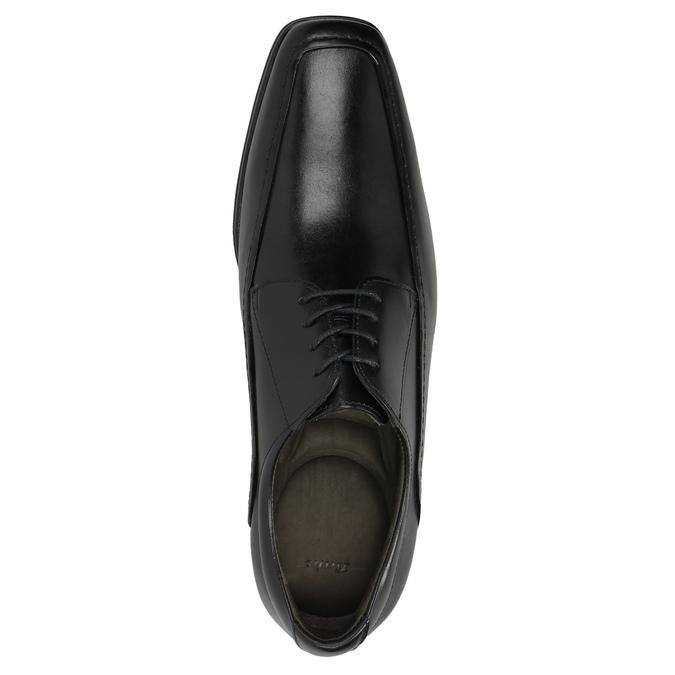 Čierne kožené poltopánky bata, čierna, 824-6724 - 19