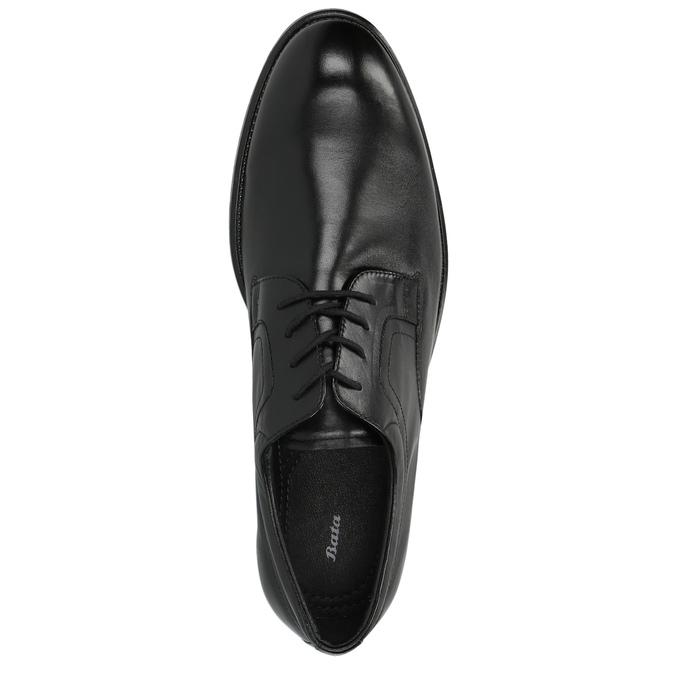 Kožené poltopánky s guľatou špičkou bata, čierna, 824-6657 - 19