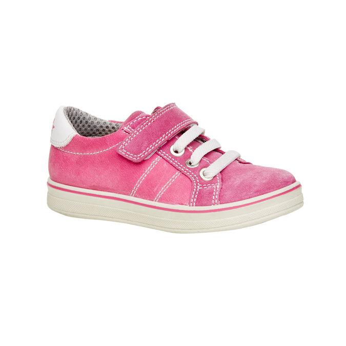 Detské kožené tenisky mini-b, ružová, 223-5120 - 13