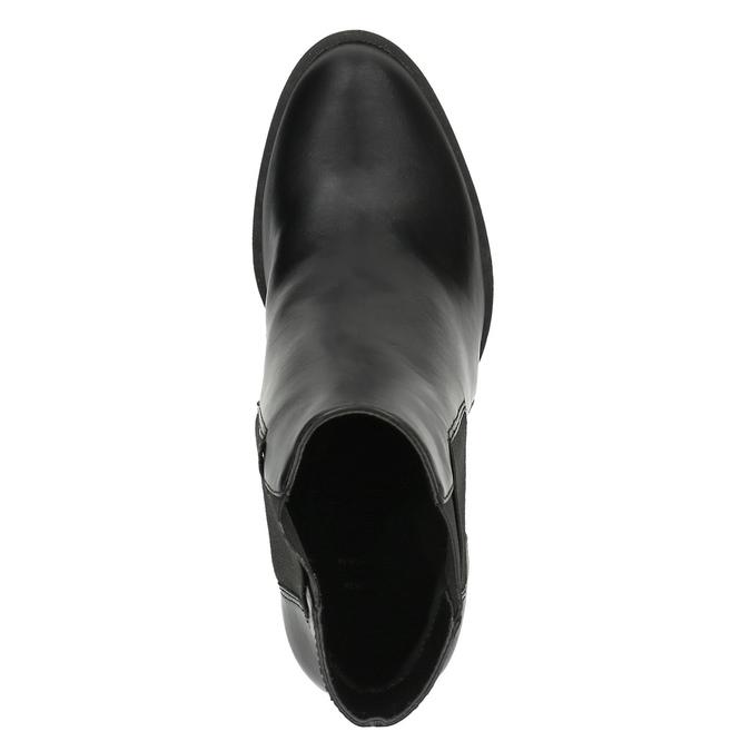 Členková obuv na podpätku s pružnými bokmi bata, čierna, 791-6604 - 19