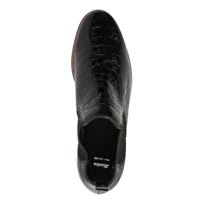 Kožené Chelsea boots bata, čierna, 598-6600 - 19